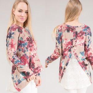 Floral Knit Blouse